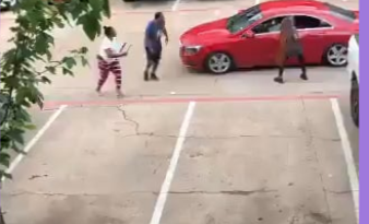 Red Car Is Attacked By People Armed With A Knife And Hammer