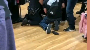 Glendale police officer roughly arrests a man being detained for shoplifting
