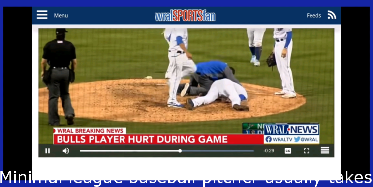 Minor league baseball pitcher takes a line drive ball to the head. He's out of the ICU but still in the hospital.