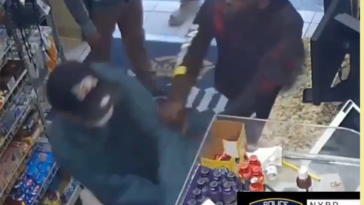 Scumbag punches an 82-year-old man and steals his cane after he refused to hand over his money.