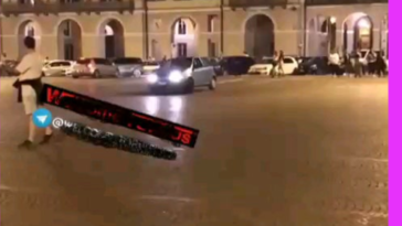 Celebrating the semi-final in Italy. The guy (20) and his GF(14) are fine.