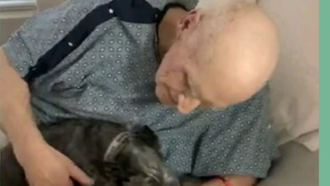 Hospitalized man reunited with his dog which he adopted from a shelter.