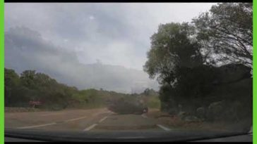 Just happend today. Filmed it with my Dashcam