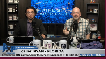 Matt Dillahunty of the webcast The Atheist Experience has a minor freakout when a caller tries to defend slavery in the Bible and how it's moral