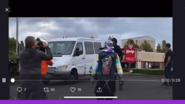 Initial hijacking video of the handicap ban in portland