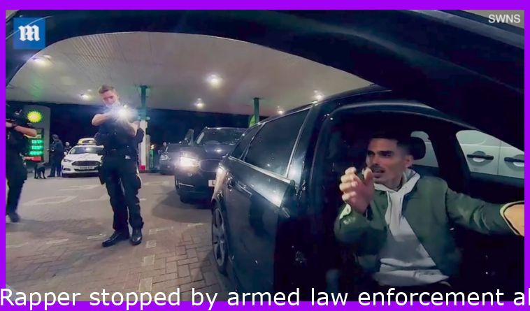 Rapper stopped by armed police while filming music video, they thought 360 camera was a gun.