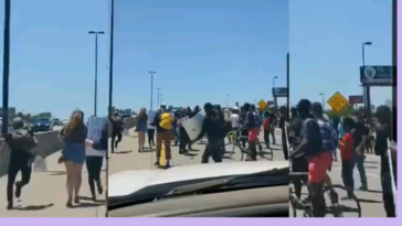Truck rams into crowd during protests on I-44, Tulsa, Oklahoma.