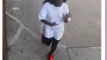 Bronx. Woman shoves 2-year old girl to the ground and then skips away happily