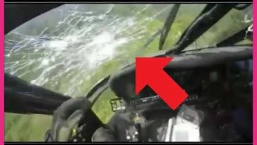 Colombian Black Hawk Helicopter Pilot Takes Enemy Rifle Round Through Windshield Mid-Air