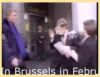 In Brussels in February 1998, Bill Gates was hit in the face with a cream pie as he was about to enter a building.